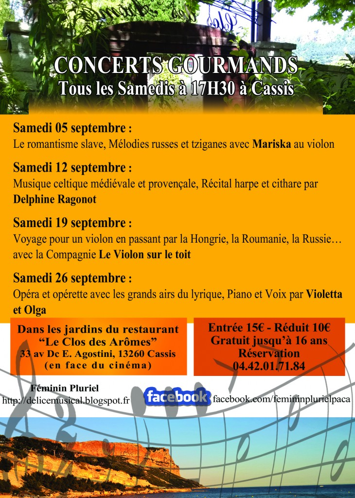 Programmation sept. 2015, Cassis