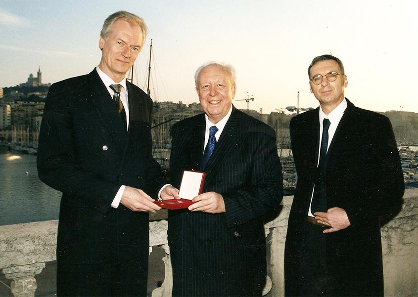 Andres Talvik, Jean-Claude Gaudin et Patrick Fort