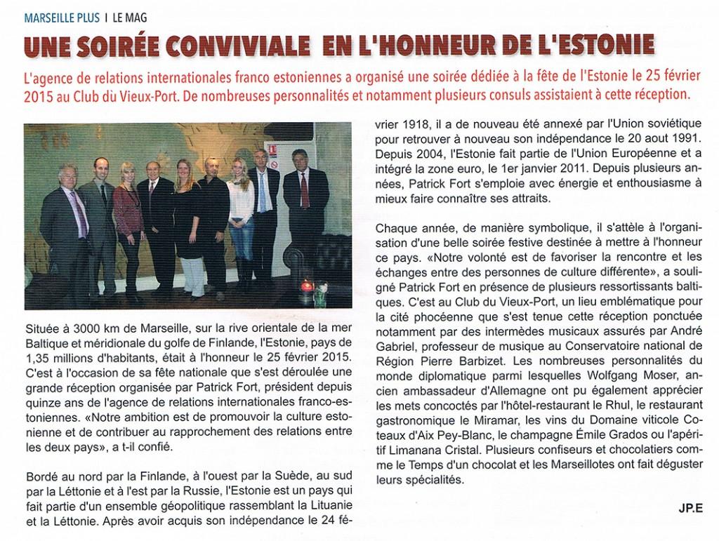 Soirée estonienne 25/02/2015 par Féminin Pluriel, Club du Vieux Port Marseille