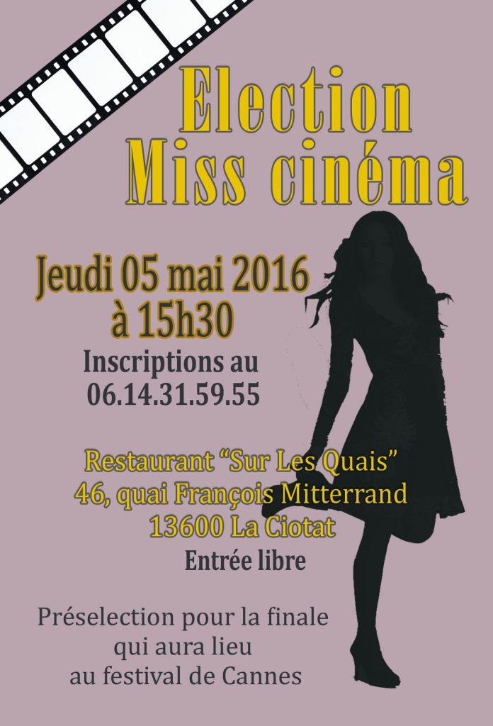 Présélection Miss cinéma nationale 2016 à La Ciotat avec Féminin Pluriel