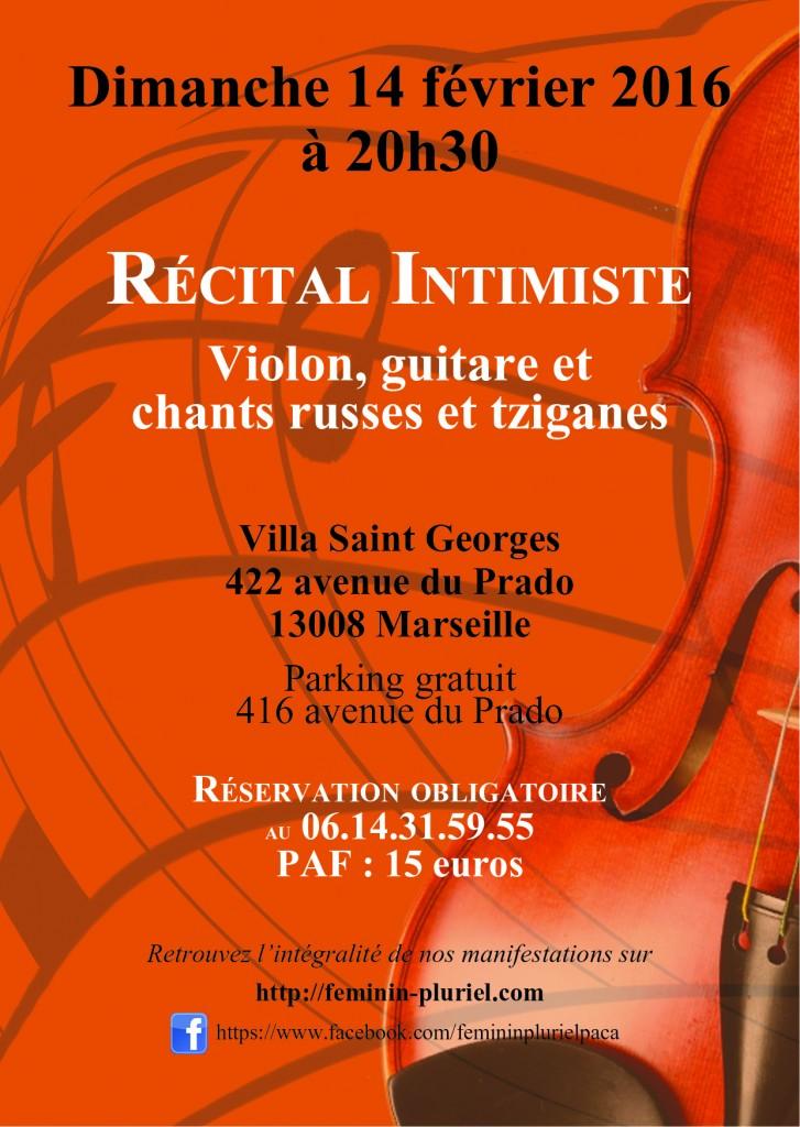Récital intimiste Saint Valentin Villa St Georges avec Féminin Pluriel (2016)